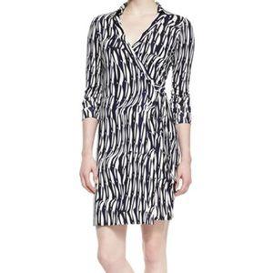 DVF Jeanne Two Silk Wrap Dress 4